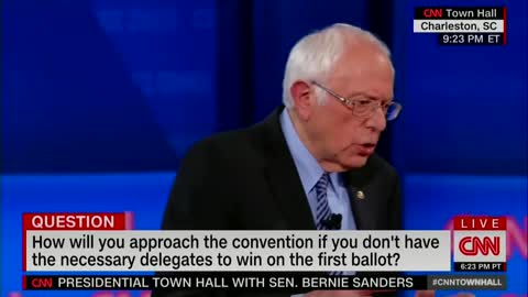 Sanders of Dem nominee and the 'plurality' of delegates
