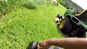 Genius way to mow lawn in half the time - Video