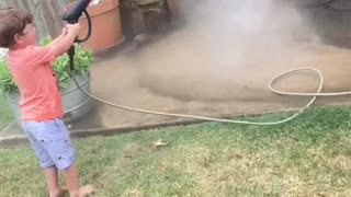 Powerwash Lifts Off like UFO in Boy's Hands