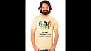 Camel Colour Mens Funny Graphic Cotton T Shirts - Video