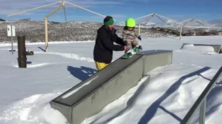 14-month-old destined to be snowboarding prodigy - Video