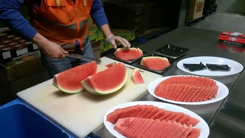 Insanely talented watermelon slicing will blow your mind!