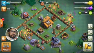 Clash of clans: Builder base attack: Giants + archer attack: LOST - Video