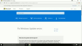 Fix Windows Update Errors  - Video