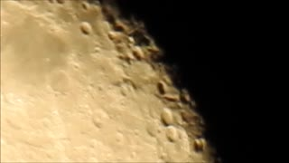86% Waning Gibbous Moon Rising  - Video