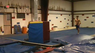 HUNTER - Dash Front Flips (with slow motion) - Gymnastics Parkour Free Running Training - Video