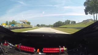 POV lap of 'Road America' race track in a Porsche Cayman ST - Video