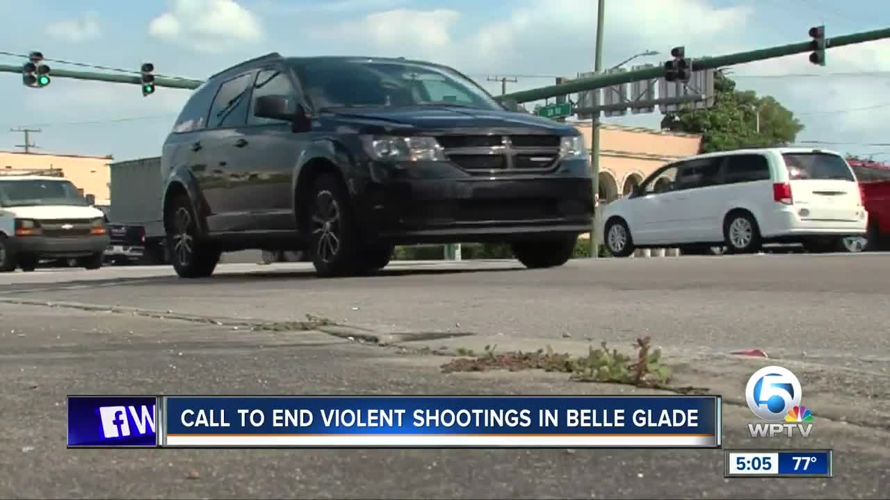 Call to end violent shooting in Belle Glade