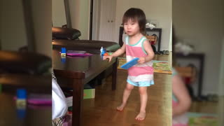 Angry Toddler Yelling NO!  - Video