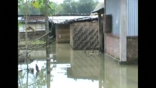 Flood waters ravage villages in eastern India - Video