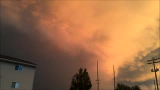 Crazy Clouds Rolling Over Grunthal Manitoba  - Video