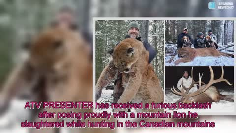 Hunter faces social media backlash after he proudly posts pictures of his death on Facebook