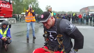 Tatra World Record Pull from Man in Wheelchair