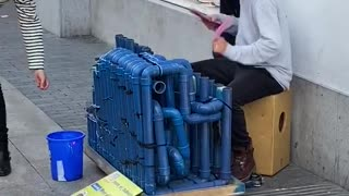 Awesome street musician in Madrid.