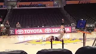 D'Angelo Russell's Half-Court Shot While Sitting Down - Video
