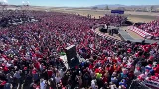 Drone eye view to see almost everyone at Rally (Peaceful Protest)