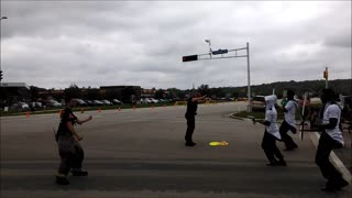 Dancing Officer and Firefighter - Video