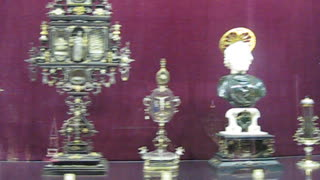 Collection of Church relics(bones, skulls). The residence of the kings. Munich. - Video
