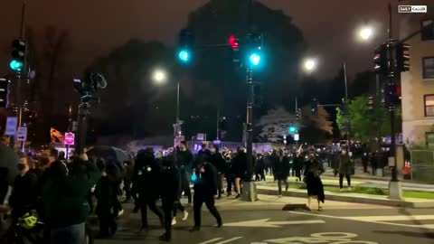 BLM crowd on the move in WashingtonDC now.