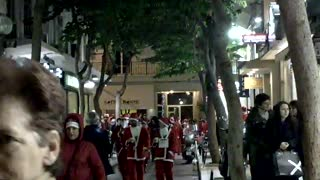 Santa Run In Greece - Video