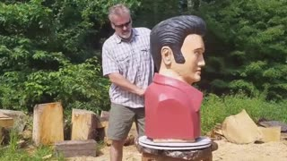 Amazing Elvis Chainsaw Sculpture Not  Ever Seen Before - Video