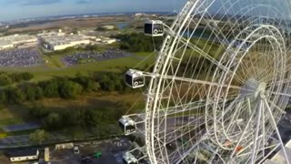 Nik Wallenda prepares to walk Florida observation wheel - Video