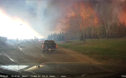 Fort McMurray Fire 3 of 6 Front Dash Cam