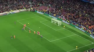 Neymar missed penalty vs Manchester City - Video