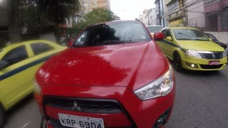 Red Mitsubishi Road Rage - Video
