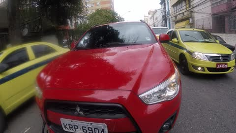 Red Mitsubishi Road Rage