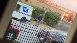 Delivery Driver Showcasing Dance Moves