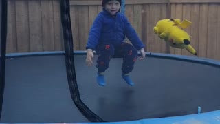 Jumping before the snow