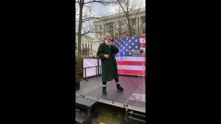 Leigh Dundas at the Freedom Rally in DC Jan 6, 2021