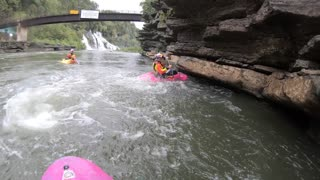 Kayak Cliff Flip - Video