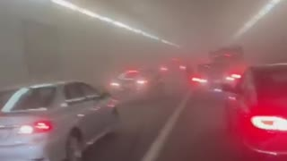 Tunnel Fills With Smoke After Serious Accident