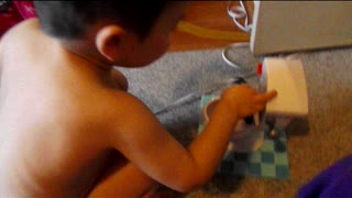Potty Training in Toy Potty - Video