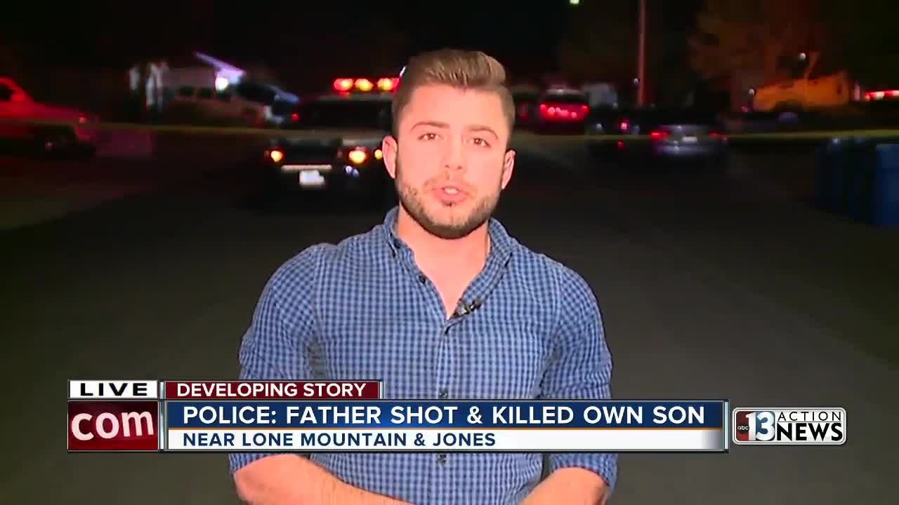Father accused by Las Vegas police of shooting, killing adult son