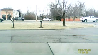 Pickup Truck Spins Out and Crashes