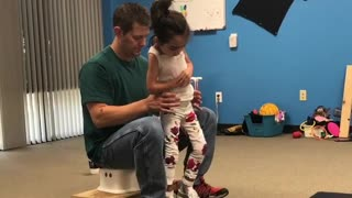 Girl With Cerebral Palsy Takes Her First Independent Steps - Video