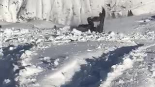 Collab copyright protection - red jacket snow backflip faceplant