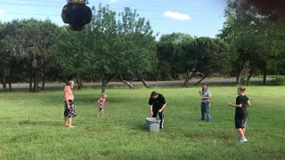 Three Generation Water Balloon Fight