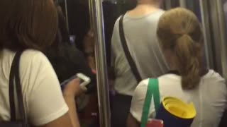 Trapped on Subway Evacuation - Video
