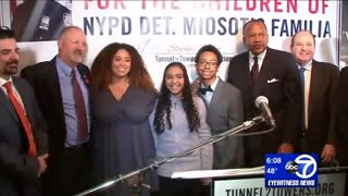 Children of Slain NYPD Cop Receive Debt-Free Home Courtesy of Generous New Yorkers - Video
