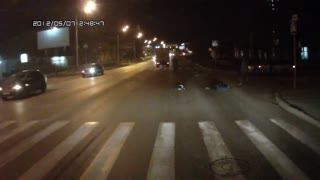 Truck Blows Through Pedestrian Crossing - Video