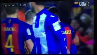 FC Barcelona 2 : 1 Leganes  - Gol de Messi (2) - Video