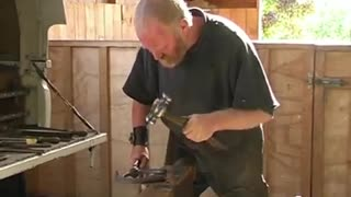 Hot Shoeing Of A Big Clydesdale Horse - Video