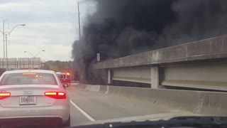Fire Collapses I-85 Bridge in Atlanta - Video