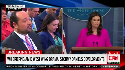 White House 'Has No Knowledge' of Lawyer's Claim That Stormy Daniels Was Physically Threatened