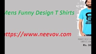 Mens Purple Colour Funny Design T Shirts - Video
