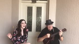 Teenage Girl Joins Elderly Grandpa For An Emotional Duet - Video